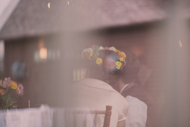 Looking through the window at the wedding reception / Love + Perry Photography