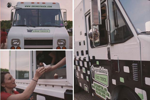 Cupcake truck instead of traditional wedding cake / Love + Perry Photography