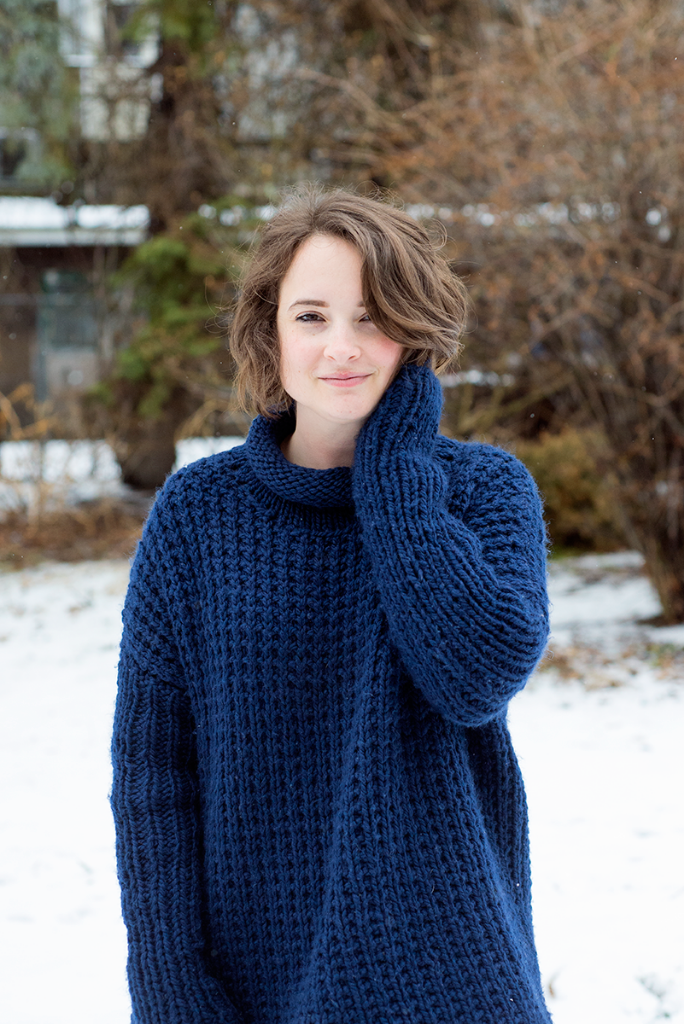Sweater knitting pattern