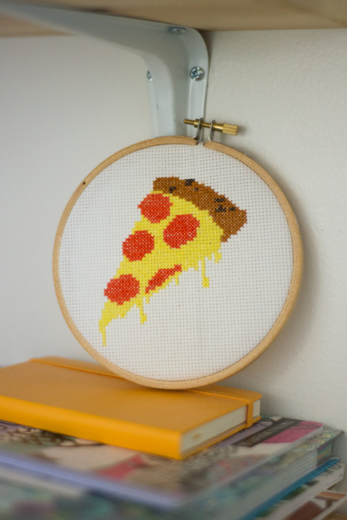 Pizza cross stitch pattern