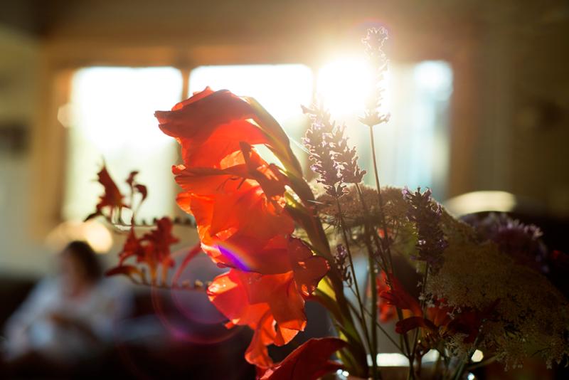 Bouquet sun flare