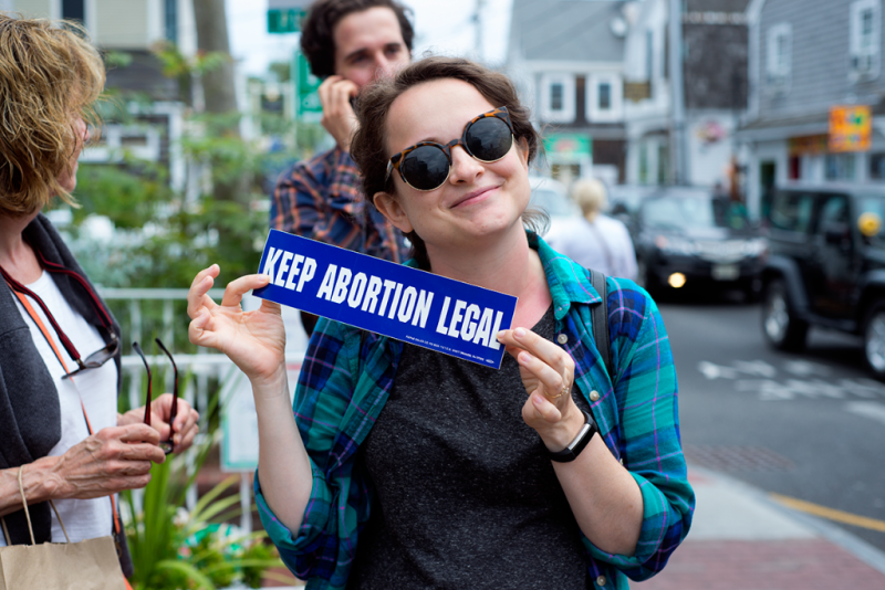 Pro-choice bumper sticker