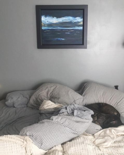 Dark moody bedroom