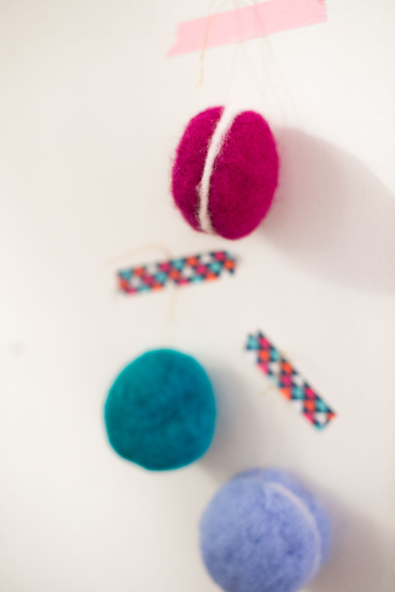 DIY felted French macaron ornaments