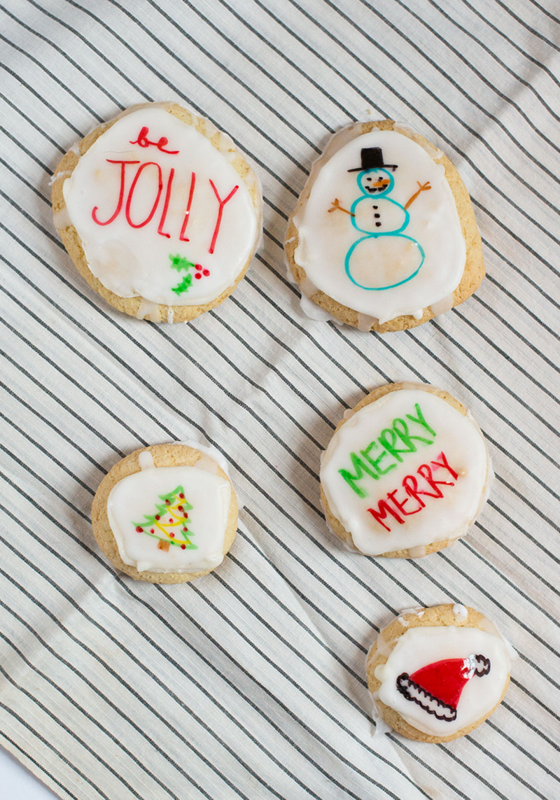 Try this: Draw on your Christmas cookies!
