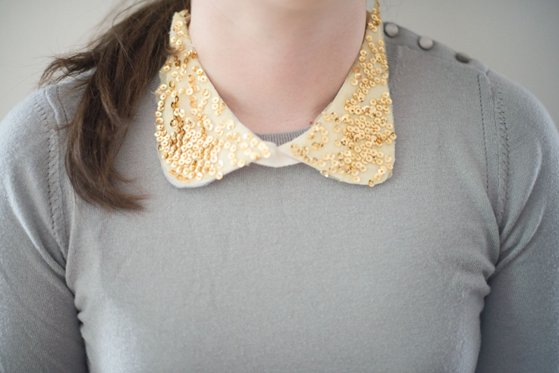 DIY no-sew sequin collar (click through for the tutorial)