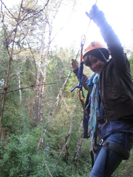 Zip-lining in Chile