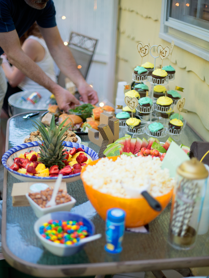 Food for an anniversary party