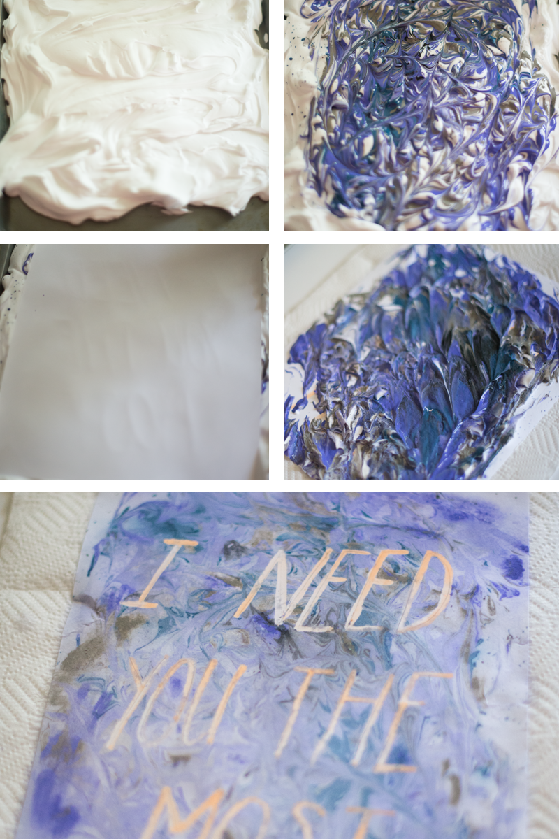Make it! Marbled message print