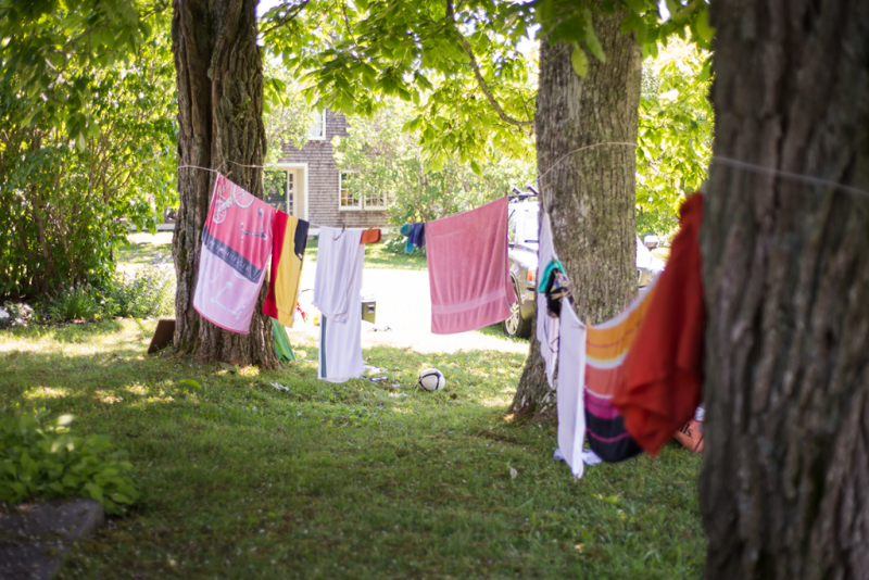 Beach towels drying