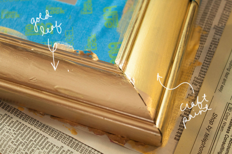 Quick DIY gold leaf mirror upgrade
