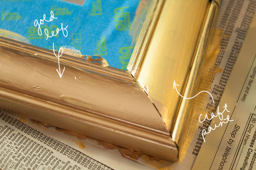 Diy Quick Gold Leaf Mirror Upgrade, How To Paint A Gold Framed Mirror