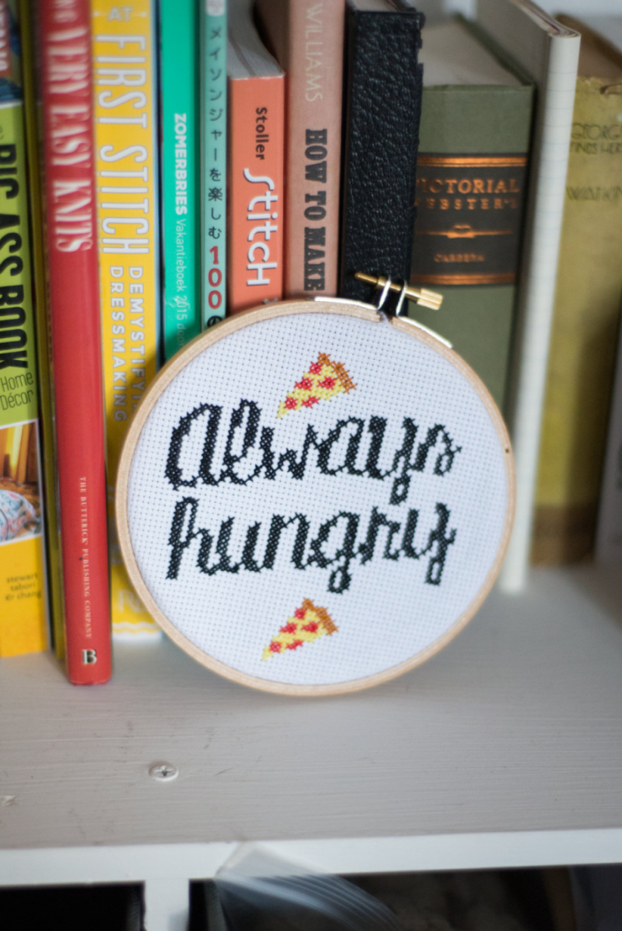 Pizza cross stitch