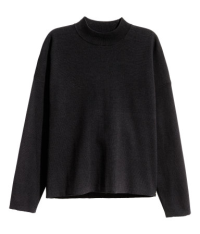 Black mock turtleneck