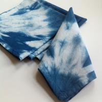 Shibori indigo napkins