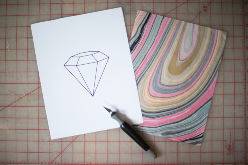 Make a marbled gemstone print! Pinning for later...