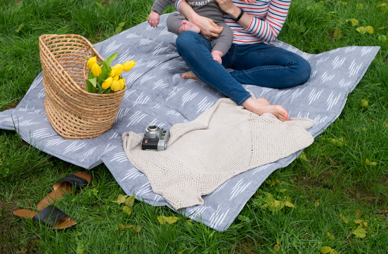 How to sew a waterproof quilted picnic blanket