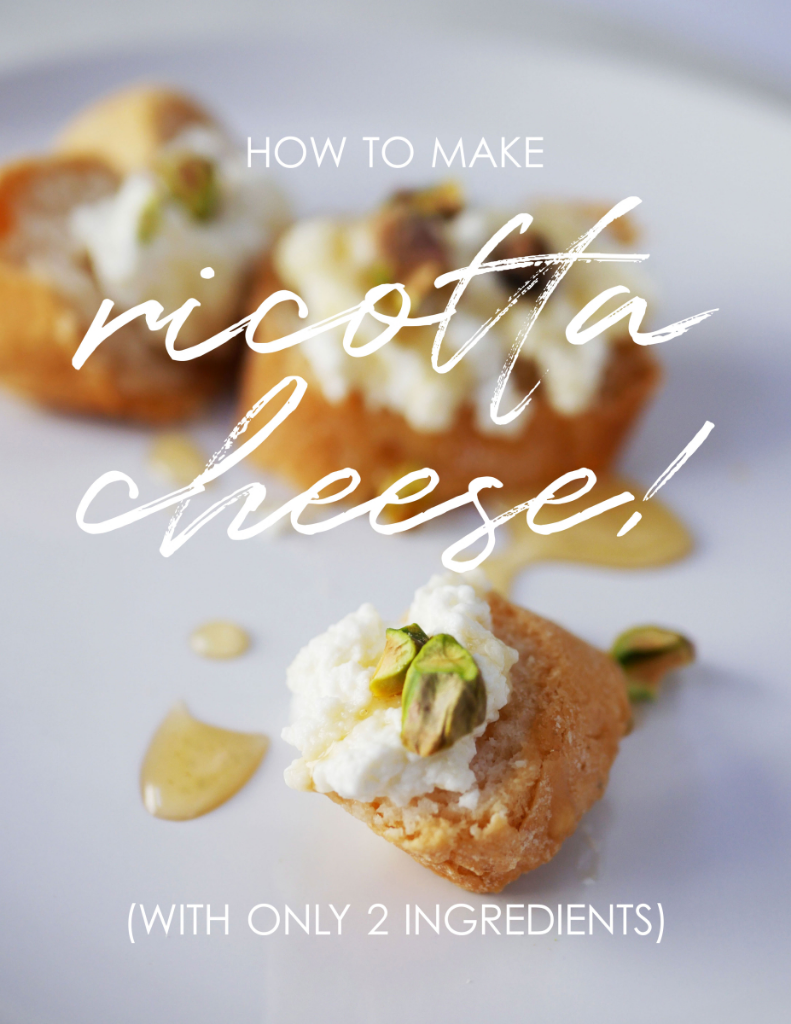 Ricotta cheese recipe – only 2 ingredients! (video tutorial)