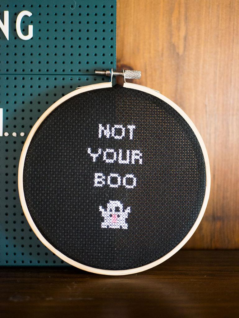 Free Feminist Halloween Cross Stitch Pattern