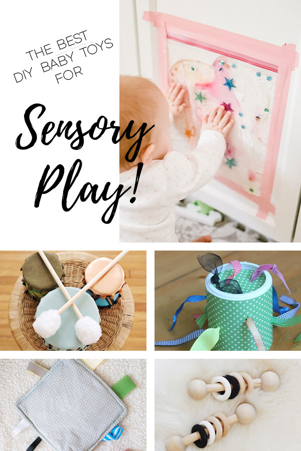A round-up of DIY baby toys that encourage sensory play