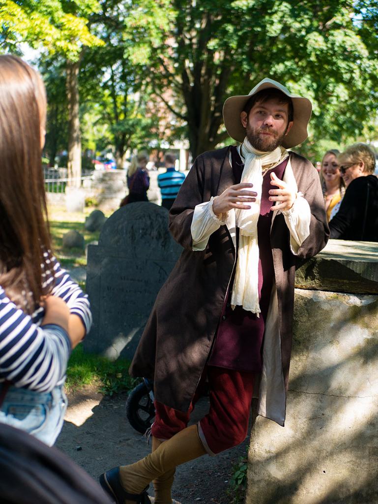 Historical reenactor in Salem