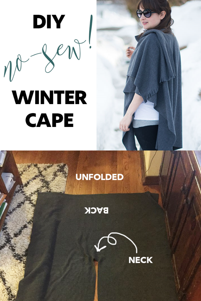 DIY no-sew winter cape