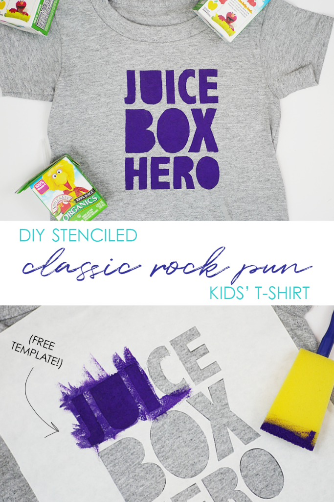 DIY classic rock pun kids t-shirt (free template!)
