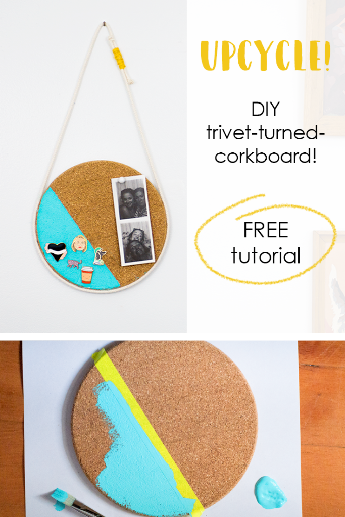 DIY bulletin board IKEA hack (store enamel pins)