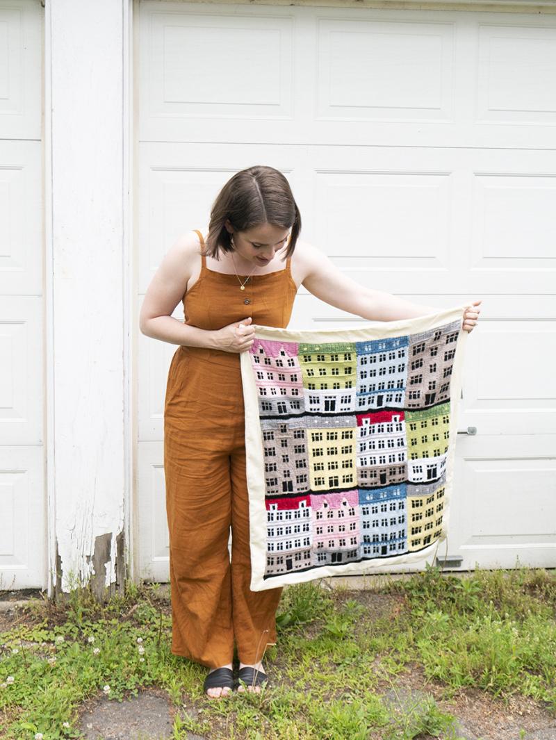 DIY knit Copenhagen baby blanket