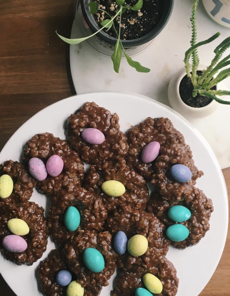 Chocolate nest cookies