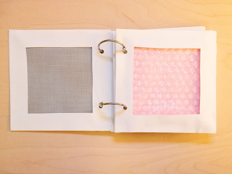 DIY touch book for baby